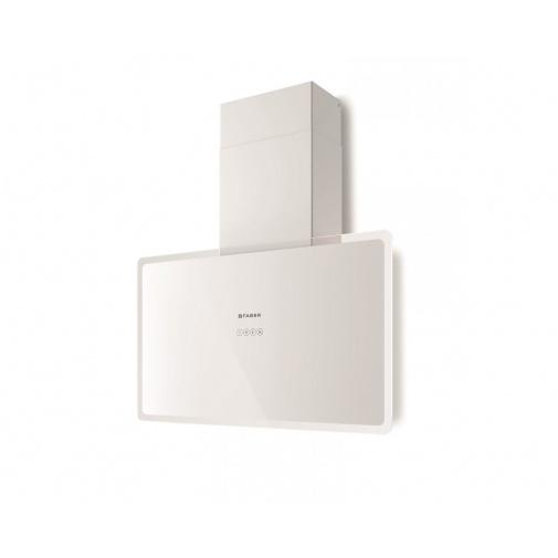 Faber GLAM-FIT WH A80 + DÁREK, Digestoř komínová šikmá 80cm, bílá/bílé sklo, 570m3/hod