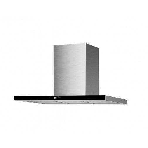 Faber TSPG GLASS X/BK A90 + AKCE, Digestoř komínová 90cm, nerez/černé sklo, 530m3/hod