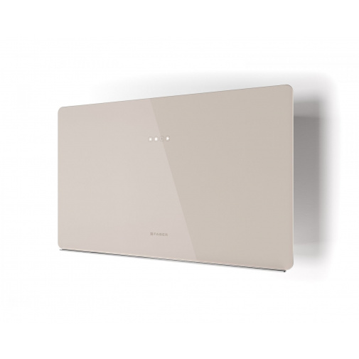 Faber GLAM FIT ZERO DRIP SAND A80 + AKCE Záruka 5 LET, Komínová digestoř bílá/pískové sklo mat 80cm