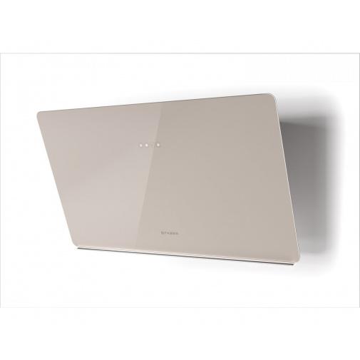 Faber GLAM LIGHT ZERO DRIP SAND A80 + AKCE Záruka 5 let, Komínová digestoř bílá / pískové sklo mat s 80cm