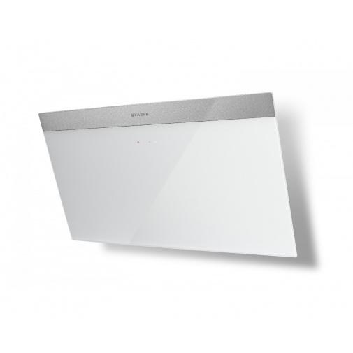 Faber DAISY PLUS WH A80 + AKCE Záruka 5 let, Komínová digestoř nerez / bílé sklo s nerez páskem 80cm