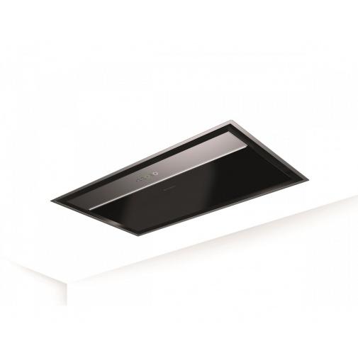 Faber ONYX-C X/V A90 + AKCE Záruka 5 let, Stropní digestoř černé sklo / nerez 90 cm