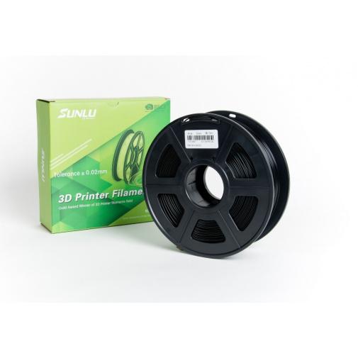 Sunlu Black 0103 Černá 1,75mm/1kg 3D Printer Filament PLA Tisková struna pro 3D tiskárny