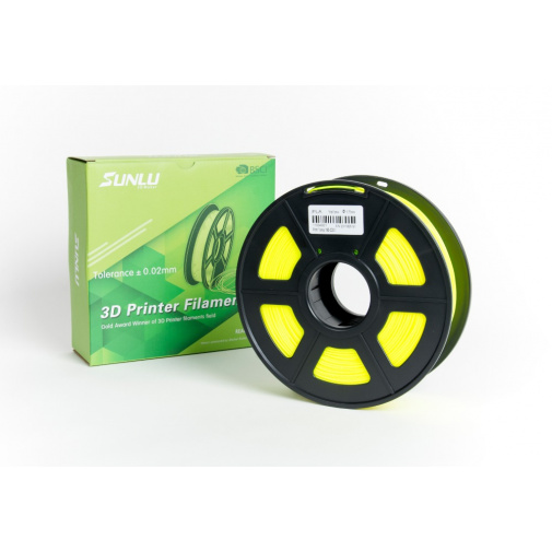 Sunlu Yellow 0103 Žlutá 1,75mm/1kg 3D Printer Filament PLA Tisková struna pro 3D tiskárny