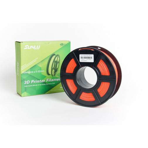 Sunlu Noctilucent Red 0101 - Svítící červená Printer Filament PLA 1,75mm, 1kg Tisková struna pro 3D tiskárny