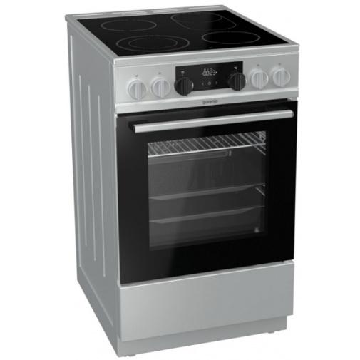 Gorenje EC5351XA Sklokeramický sporák nerez 50cm, Víceúrovňové pečení, AquaClean