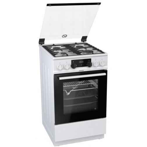 Gorenje K5352WF Kombinovaný sporák bílý 50cm, AquaClean, Víceúrovňové pečení