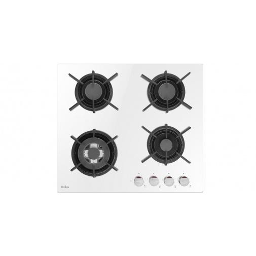 Amica DP 6410 LZWG bílá Plynová varná deska na skle 60cm, WOK, litinové rošty