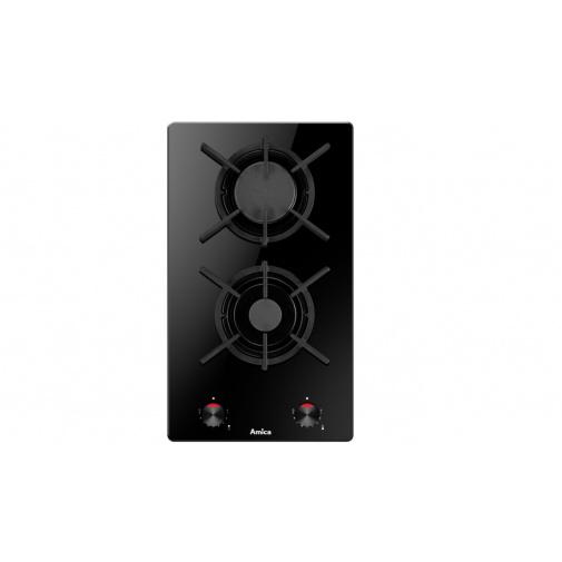 Amica DDPS 3201 LZBG černá Dvouplotýnková plynová deska, černé sklo