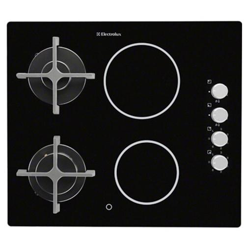 ELECTROLUX EGE6172NOK Plynová varná deska kombinovaná na skle (černá)
