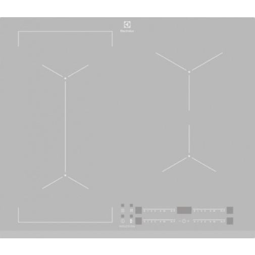 Electrolux EIV63440BS 700 FLEX Bridge Indukční deska stříbrná 60cm, Windmill / Bridge