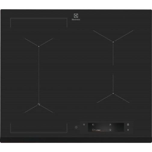 Electrolux EIS6448 800 SENSE SenseFry Indukční varná deska, tmavě šedá, Windmill / Bridge