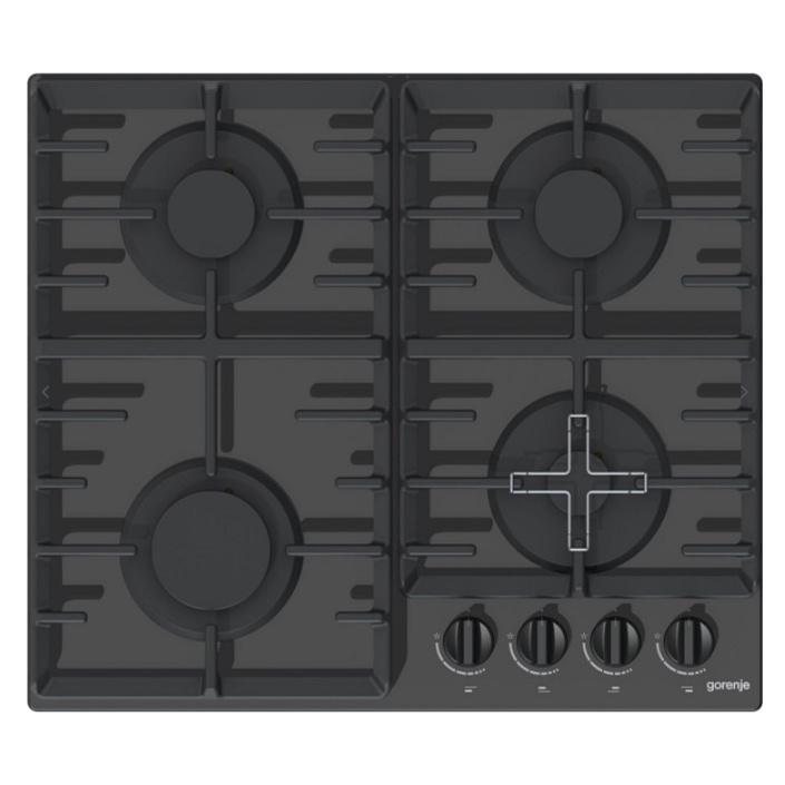 Gorenje GT641B + DÁREK, Plynová varná deska černá, tvrzené sklo
