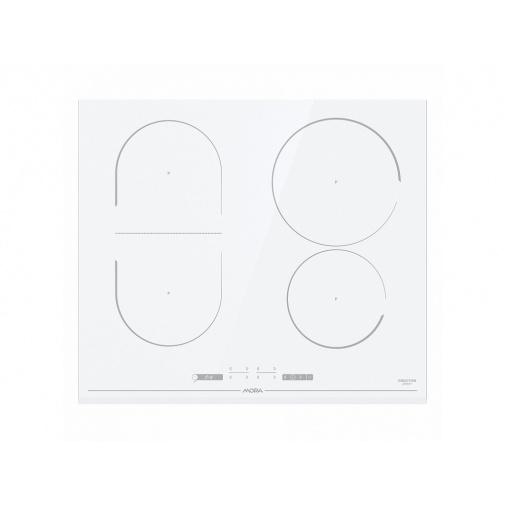 Mora VDIT 653 FFW + AKCE, Indukční varná deska bílá 60cm, BridgeZone, StayWarm
