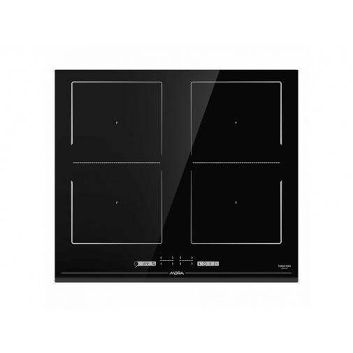 Mora VDIT 656 FF + AKCE, Indukční varná deska 60cm, zkosená hrana, AreaFlex, StayWarm