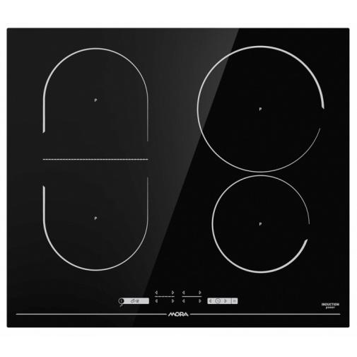 Mora VDIT 653 C Indukční varná deska černá 60cm, BridgeZone, StayWarm