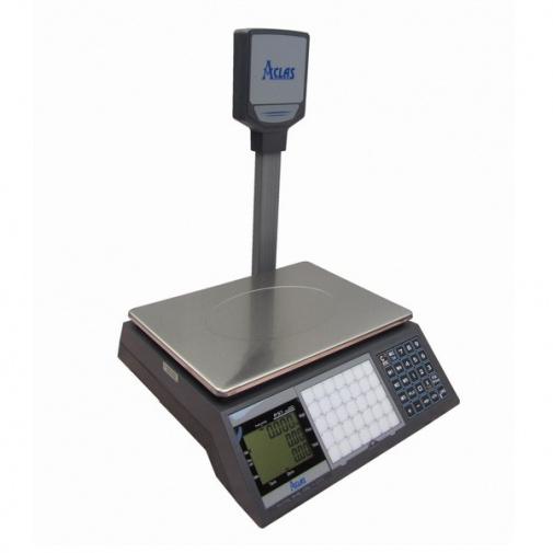 ACLAS PS1P-15DS 6/15kg + DÁREK, Obchodní váha s displejem na stativu (včetně ES ověření)