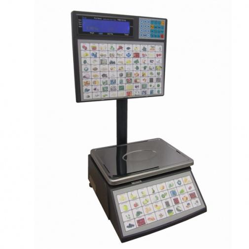 ACLAS LS2S615, 6/15kg Obchodní váha s tiskem etiket pro samoobslužný prodej