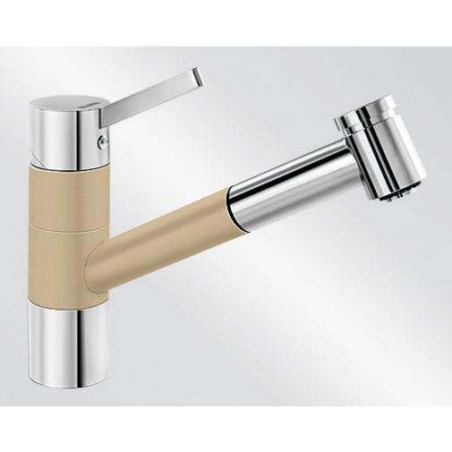 Blanco TIVO-S béžová champagne/chrom (517615) + DÁREK, Dřezová baterie se sprchou