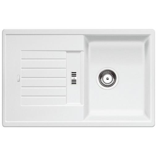 Blanco ZIA 45 S Silgranit bílá + DÁREK, Granitový jednodřez s odkapem /514726/ oboustranné provedení