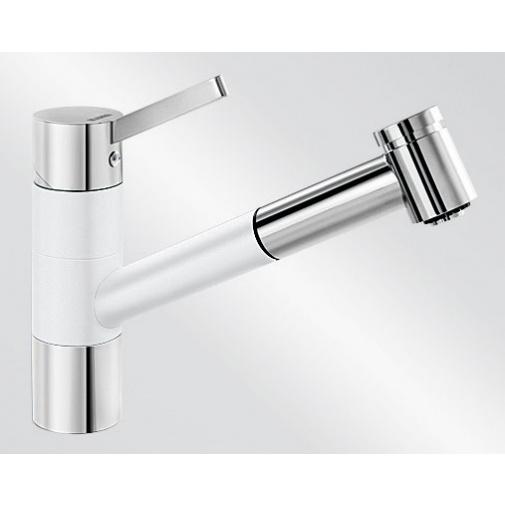 Blanco TIVO-S bílá/chrom (517613) + DÁREK, Dřezová baterie se sprchou