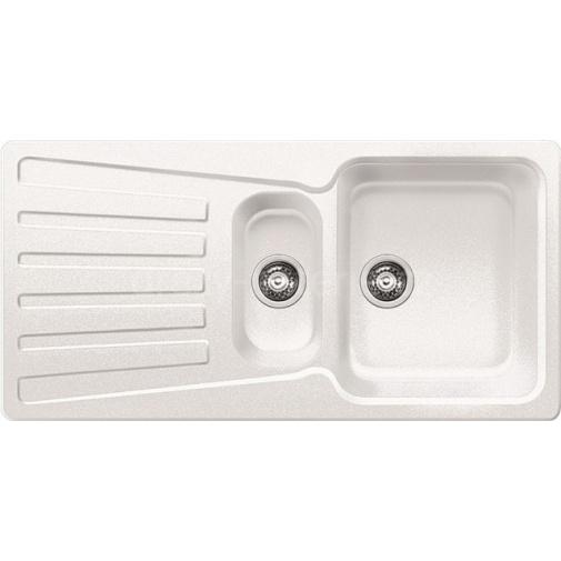 Blanco NOVA 6 S bílá + DÁREK, Kuchyňský granitový dřez /510488/ bez excentru