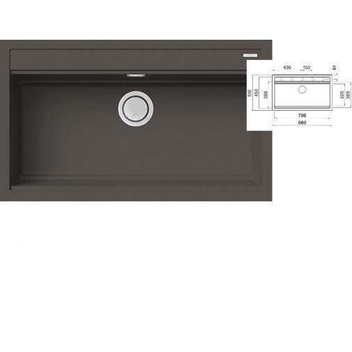 ELLECI BEST 360 K93 Dove grey + DÁREK, Keratek Granitový široký jednodřez