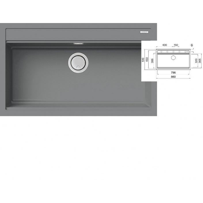 ELLECI BEST 360 K97 Light grey Keratek Granitový široký jednodřez + DÁREK a záruka 20 LET