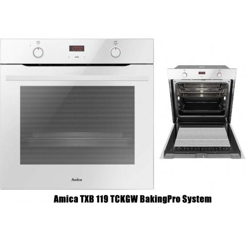 Amica TXB 119 TCKGW + AKCE, Vestavná horkovzdušná trouba X-type bílá, OpenUp