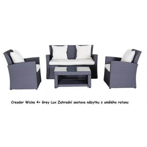 Creador Wicke 4+ Grey Lux Zahradní sestava ratanového nábytku se stolem