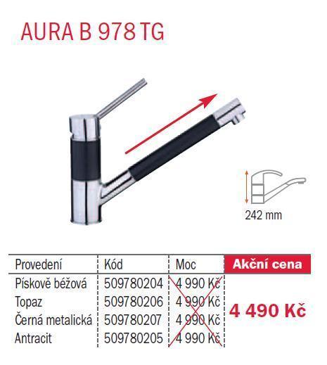 Teka AURA B 978 TG Černá metalická