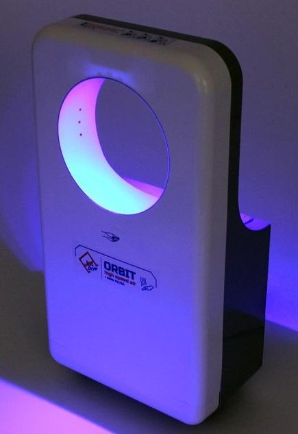 Obrázek galerie pro produkt Jet Dryer ORBIT Stříbrný Tryskový osoušeč rukou s kruhovým designem, HEPA filtr H12