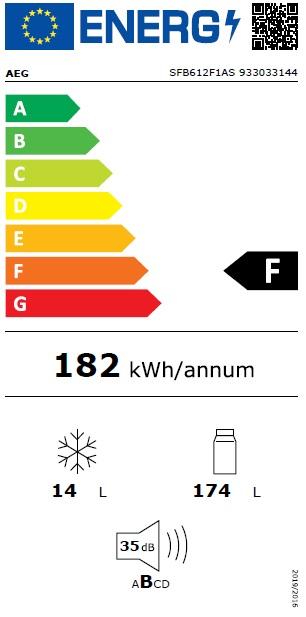 Obrázek galerie pro produkt AEG SFB612F1AS Vestavná chladnička monoklimatická