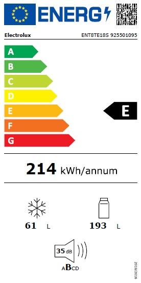 Obrázek galerie pro produkt Electrolux ENT8TE18S NoFrost  Vestavná lednice kombinovaná ,177cm, Nízkoteplotní zásuvka