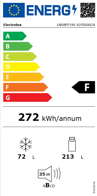 Obrázek galerie pro produkt Electrolux LNS8FF19S LowFrost Vestavná chladnička kombinovaná s mrazákem dole, 188cm