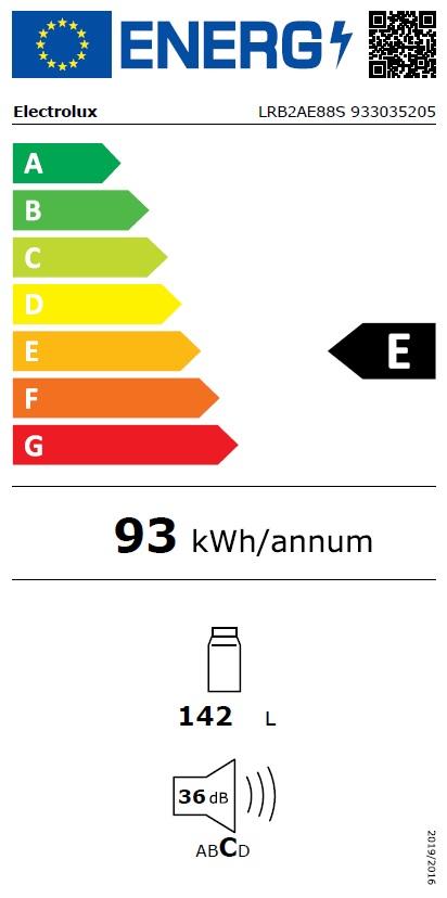 Obrázek galerie pro produkt Electrolux LRB2AE88S Vestavná chladnička monoklimatická