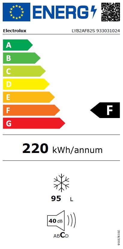 Obrázek galerie pro produkt Electrolux LYB2AF82S Vestavná šuplíková mraznička A+,82cm
