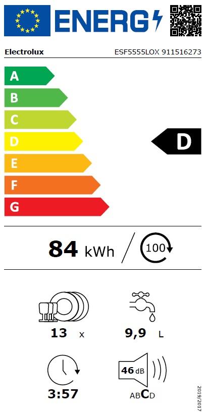 Obrázek galerie pro produkt Electrolux ESF5555LOX AirDry, Myčka nádobí nerez 60cm, Invertor motor
