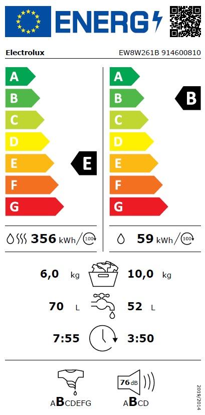 Obrázek galerie pro produkt Electrolux EW8W261B PerfectCare 800 Parní pračka se sušičkou, kapacita 10/6kg