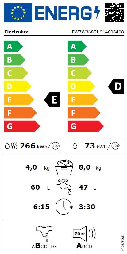Obrázek galerie pro produkt Electrolux EW7W368SI PerfectCare 700 Vestavná pračka se sušičkou 8/4kg