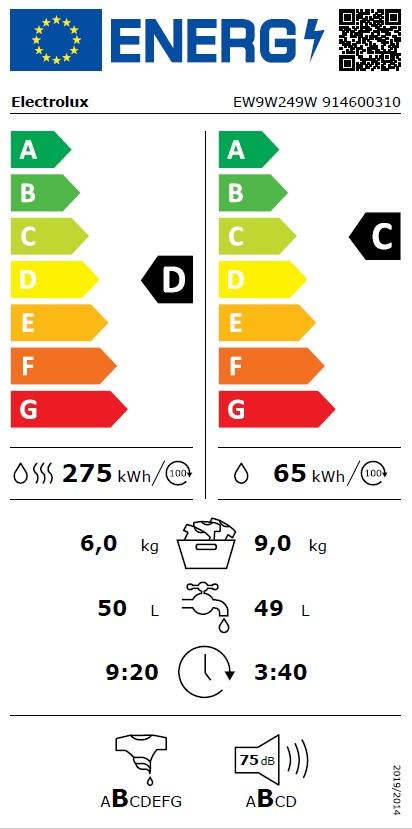 Obrázek galerie pro produkt Electrolux EW9W249W PerfectCare 900 Parní pračka se sušičkou, kapacita 9/6kg