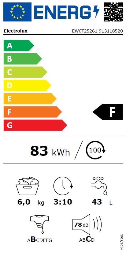 Obrázek galerie pro produkt Electrolux EW6T25261 PerfectCare 600 Pračka vrchem plněná kapacita 6kg