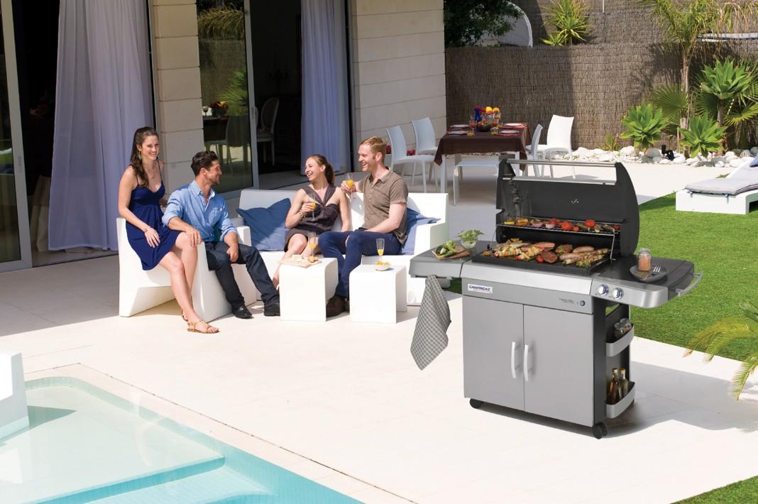 Obrázek galerie pro produkt Campingaz 3 Series RBS L INT + Obal, Chladící box, Stojan kuře a více, Zahradní plynový gril /2000015654/