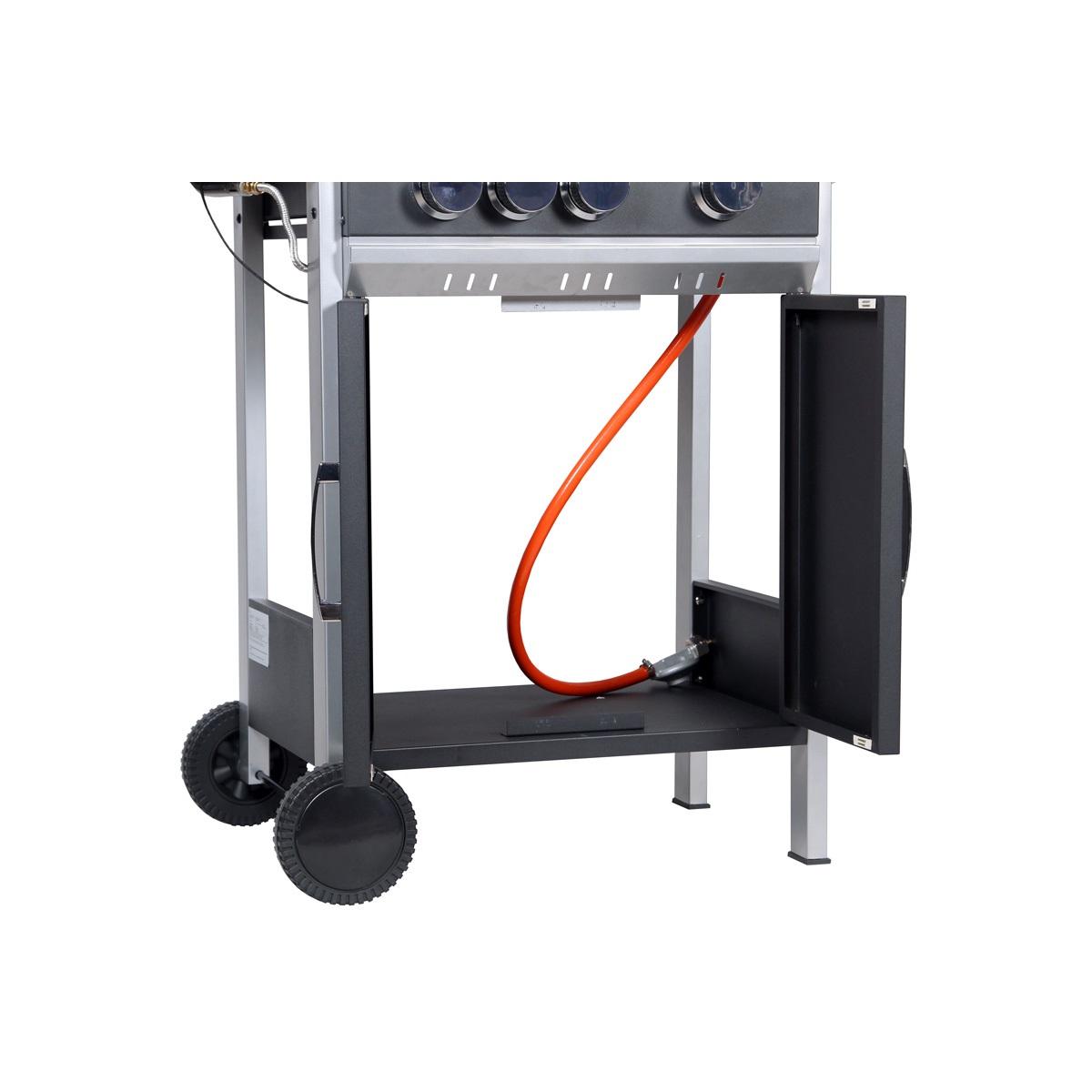 Obrázek galerie pro produkt Activa Nebraska Zahradní plynový gril s bočním vařičem