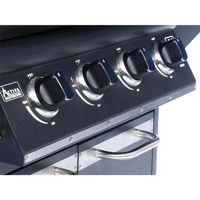 Obrázek galerie pro produkt Activa Dakota III + AKCE, Zahradní plynový gril s bočním vařičem