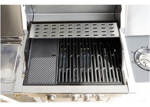 Obrázek galerie pro produkt G21 California BBQ Premium line + AKCE Dárek, Zahradní plynový gril nerez s bočním vařičem
