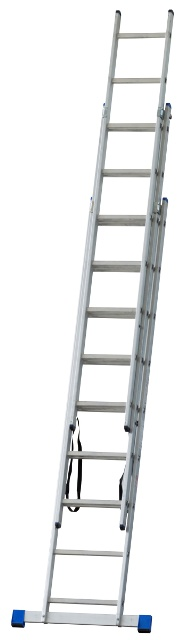 Obrázek galerie pro produkt G21 GA-H-3x9 Hliníkový žebřík 3-dílný 5,9m, štafle /6390384/