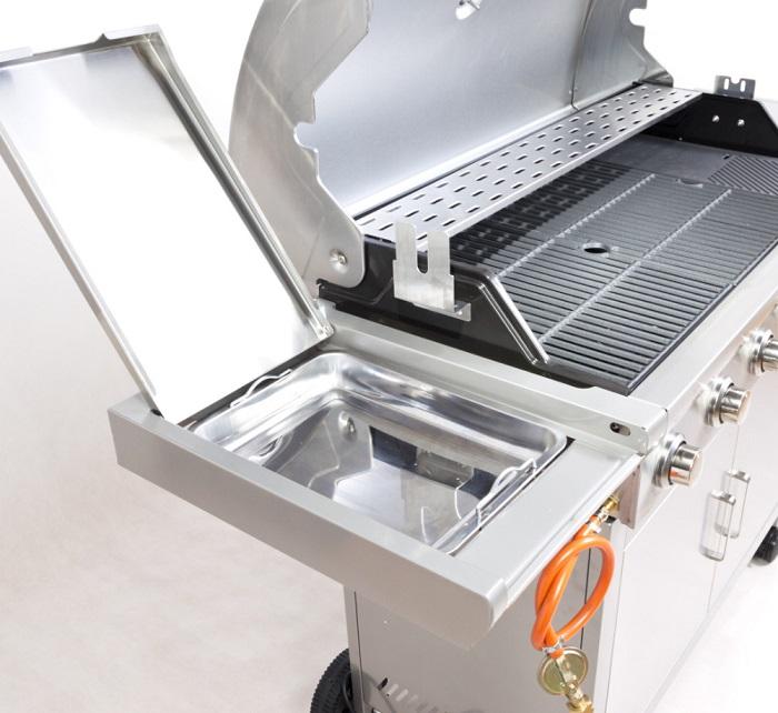 Obrázek galerie pro produkt G21 Mexico BBQ Premium line + AKCE Dárek, Zahradní plynový gril s bočním hořákem + redukční ventil