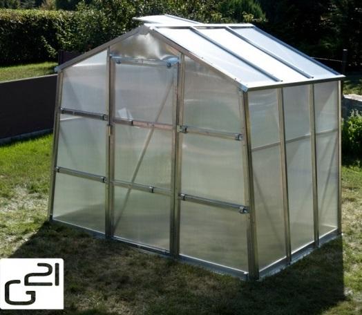 Obrázek galerie pro produkt G21 GZ-59 + AKCE, Zahradní polykarbonátový skleník, pozinkovaná konstrukce, rozměr 2,5 x 3,1m