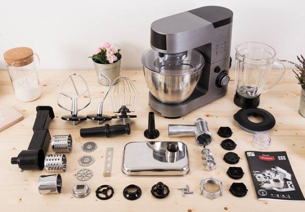 Obrázek galerie pro produkt G21 Promesso Iron Grey + Záruka 2+2, Celokovový kuchyňský robot šedý 1500W